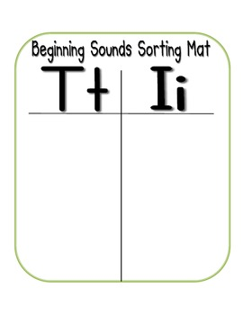 First Sound Fluency- Sorting Mats - Common Core Aligned (I,T,N, andC)