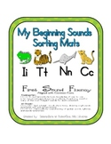 First Sound Fluency- Sorting Mats - Common Core Aligned (I