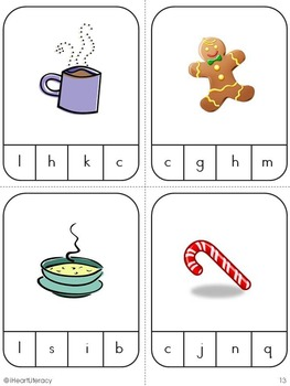 First Sound Match Game: Kindergarten & 1st Grade RTI - Winter Theme