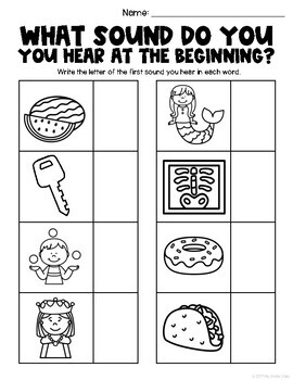 First Sound Practice Worksheets