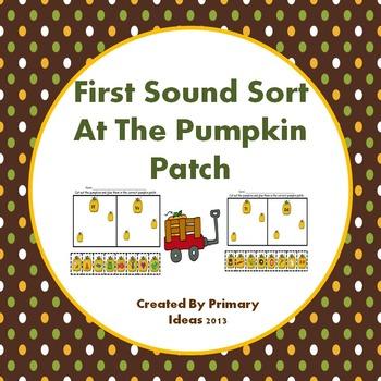 First Sound Sort At The Pumpkin Patch