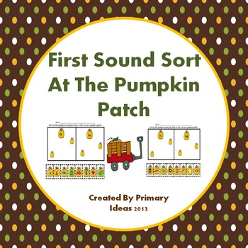 First Sound Sort At The Pumpkin Patch