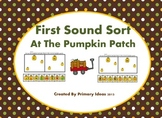 First Sound Sort At The Pumpkin Patch Black and White pages