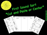 First Sound Sort - Cut and Paste or Center