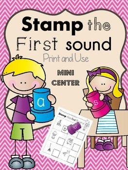 First Sound : Sound Symbol Correspondence Mini Center Activity
