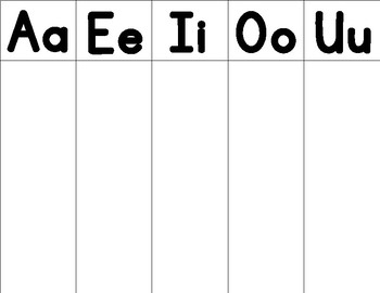 First Sounds: A,E,I,O,U Vowels Sorting Mats