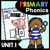 First Sounds Unit - Initial Letter Sounds - Kindergarten Phonics CVC Words