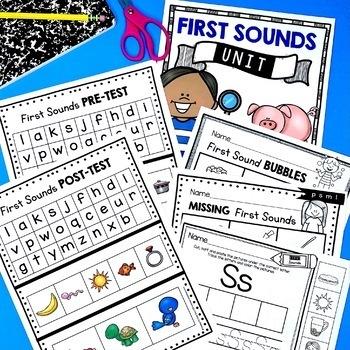 Beginning Sounds Unit - Initial Letter Sounds - Kindergarten Phonics CVC Words