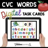 First Sounds in CVC Words Boom Cards™  Kindergarten Phonics Segmenting blending
