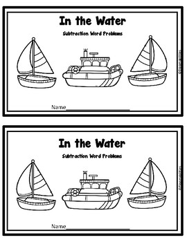 First Step Story Problems: Addition, Subtraction, Mixed to 10 (Transportation)