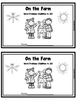 First Step Story Problems: Addition to 10 FREEBIE! (Farm Theme)
