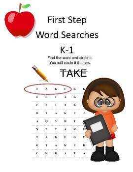 First Step Word Search-Word Work K-1-ELA