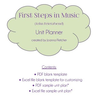 First Steps In Music Unit Planner