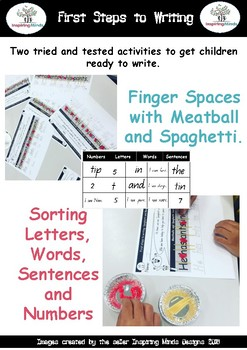 First Steps To Writing Activities