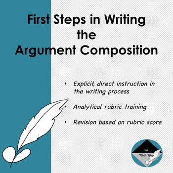 First Steps in Argument Writing