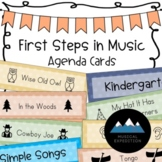 First Steps in Music Agenda Cards