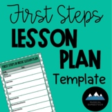 First Steps in Music Lesson Plan Template