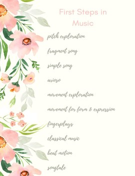 First Steps in Music Outline