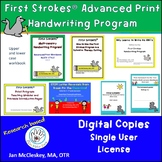 First Strokes Advanced Print Handwriting Workbook - Single