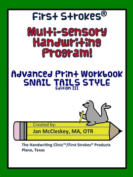First Strokes Advanced Print SNAIL TAILS workbook