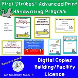 First Strokes Advanced Print Workbook - Building/Facility Use Digital Files