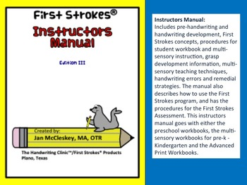 First Strokes Instructors Manual