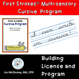 DISTANCE LEARNING First Strokes Cursive Handwriting  - BUI
