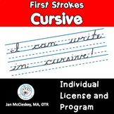 First Strokes Cursive Handwriting - INDIVIDUAL LICENSE