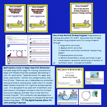 DISTANCE LEARNING First Strokes Multi-sensory Handwriting - Building License
