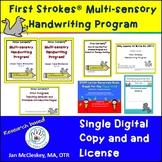 First Strokes Multi-sensory Handwriting Program - Single User Digital Copy