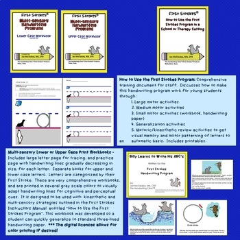 DISTANCE LEARNING First Strokes Multi-sensory Handwriting - Individual License