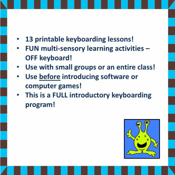 First Strokes Multi Sensory Keyboarding Program And Manual