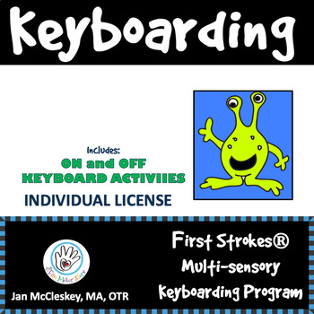 First Strokes Multi-sensory Keyboarding/Typing Program and Manual