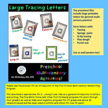 DISTANCE LEARNING First Strokes PRESCHOOL Print Handwriting - Building License