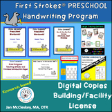 DISTANCE LEARNING First Strokes PRESCHOOL Print Handwritin