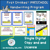 First Strokes PRESCHOOL Print Introduction Program - singl