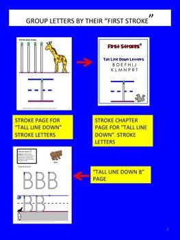 First Strokes Preschool workbook UPPER CASE