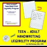 First Strokes Print Legibility Program for Teen - Adult!