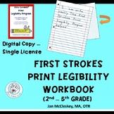 First Strokes Print Legibility Workbook  SINGLE DIGITAL CO