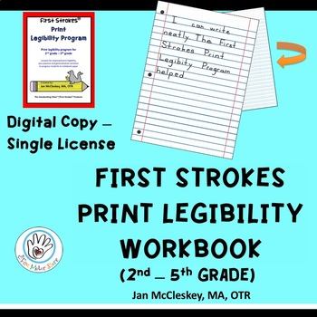 DISTANCE LEARNING First Strokes Print Legibility Handwriting  INDIVIDUAL LICENSE