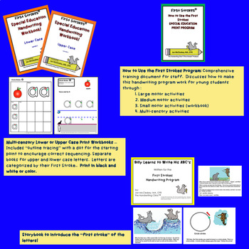 DISTANCE LEARNING Handwriting Practice Curriculum for Special Education  BUNDLE