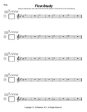 First Study Sheets for Beginning Band