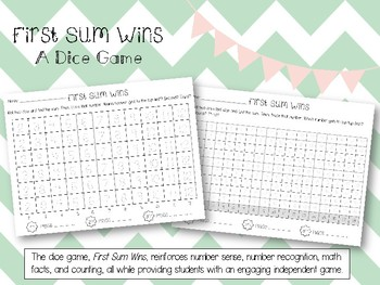 First Sum Wins Dice Game
