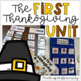 First Thanksgiving Unit for Autism and Special Education