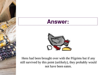 First Thanksgiving Bellringer Warm-up Quiz