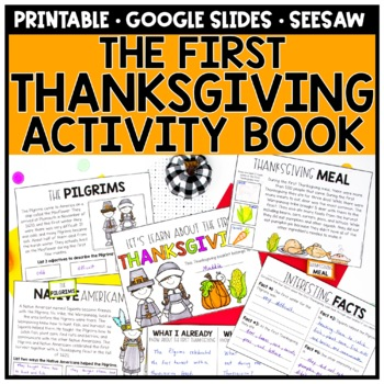 First Thanksgiving Informational Book & Activities
