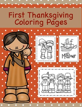 First Thanksgiving: Coloring Pages