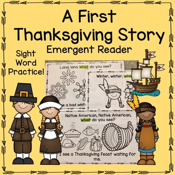First Thanksgiving Story Emergent Reader