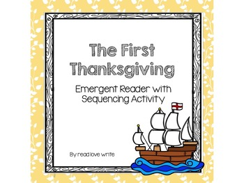 First Thanksgiving Emergent Reader with Sequencing