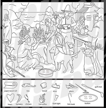 First Thanksgiving Hidden Images Puzzle